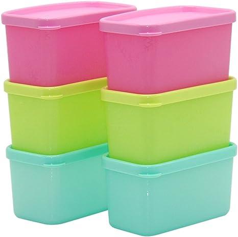 Para frutas y verduras Caja de plástico rectangular refrigerador sellado congelado Caja de fruta fresca (Color : 4): Amazon.es: Hogar