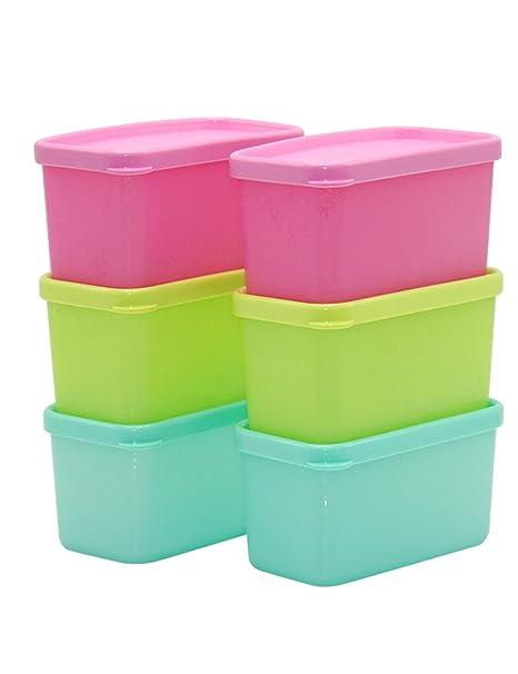Para frutas y verduras Caja de plástico rectangular refrigerador sellado congelado Caja de fruta fresca (