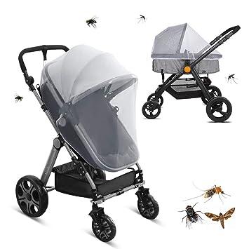 Moskitonetz für Kinderwagen und Buggy AN Mückennetz Universal Insektenschutz
