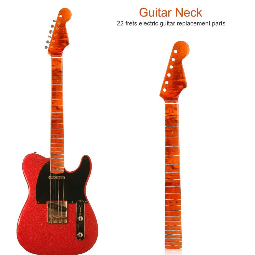 Dilwe Cuello para Guitarra Eléctrica, 21 Trastes Inlay Mark Dots Patrón de Tigre Mástil de Arce para Piezas de Accesorios de Guitarras Estilo ST: Amazon.es: ...