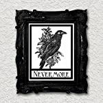 Nevermore Raven Crow Art Print Edgar Allen Poe Halloween Gothic Art Blackbird Black Bird Wall Decor Vintage 8x10 7