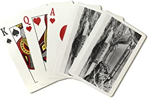 Grand Coulee Dam, Washington - Aerial View of the Completed Dam (Playing Card Deck - 52 Card Poker Size with Jokers)