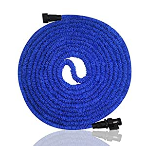 Garden Hose, Expandable Garden Hose, 75ft Expanding Garden Hose Lightweight Durable Heavy Duty Flexible Pressure Washer Water Hose for Car Wash Cleaning Watering Lawn Garden Plants
