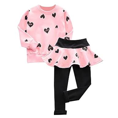 62ff8dff34c De feuilles Chic-Chic Ensemble Fille Bébé 2pc T-Shirt Pull-Over+ Pantalons