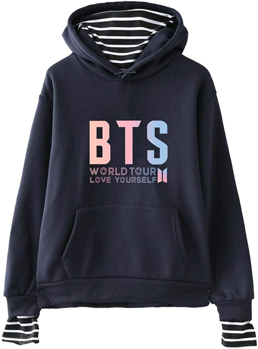 naughty kiss Unisex BTS Lover Casual Hoodies,Autumn Winter Warm Sweatshirt Jacket Fashion Coat Blouse
