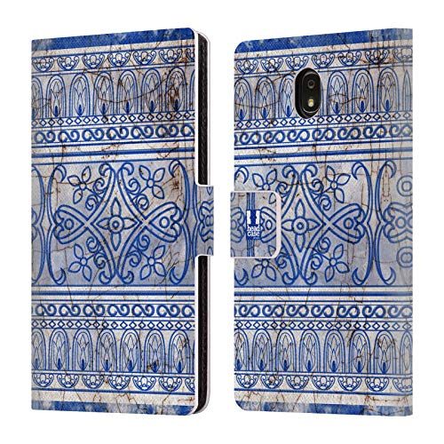 Head Case Designs Antique Porcelain Chinese Jar Pattern Leather Book Wallet Case Cover Compatible for Samsung Galaxy J7 (2018)