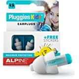 Alpine Pluggies Kids Ear Plugs – Noise Cancelling Ear Buds for Kids Age 5-12 – Ear Plugs for Small Ear Canals – Kids Ear…