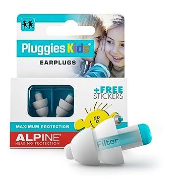 Alpine Pluggies bouchons d'oreilles pour enfants Pour enfants et petits conduits auditifs Pour voler et nager Matériel confortable