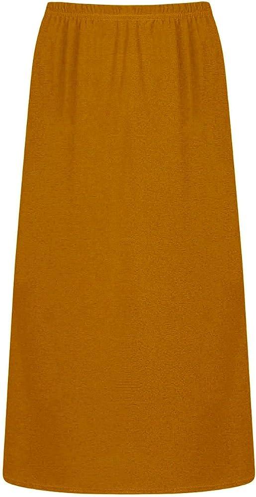 ZipZappa Largo Falda de Chica Color Liso Cintura elástica (9-10 ...