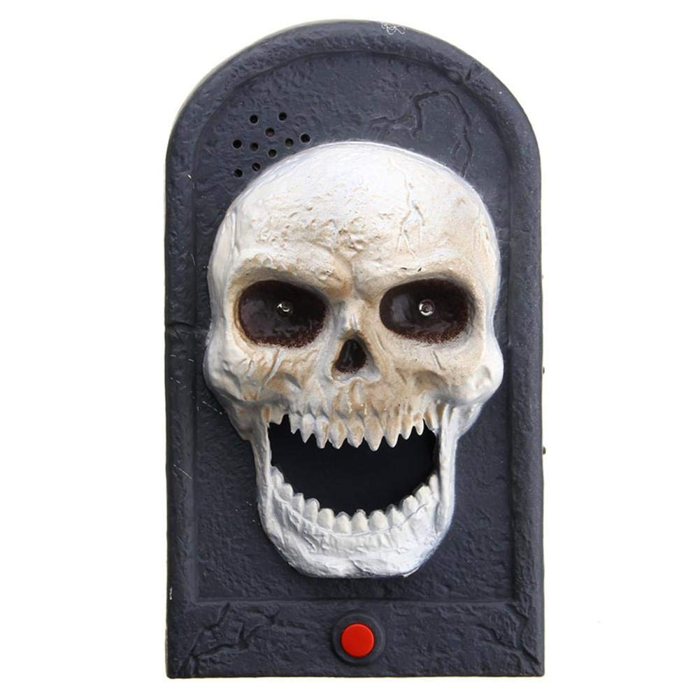 Pleasay Halloween Decorative LED Light Doorbell with Spooky Sounds Haunted House Prop Lamp Halloween Party Prop Decoration Great by Pleasay (Image #1)