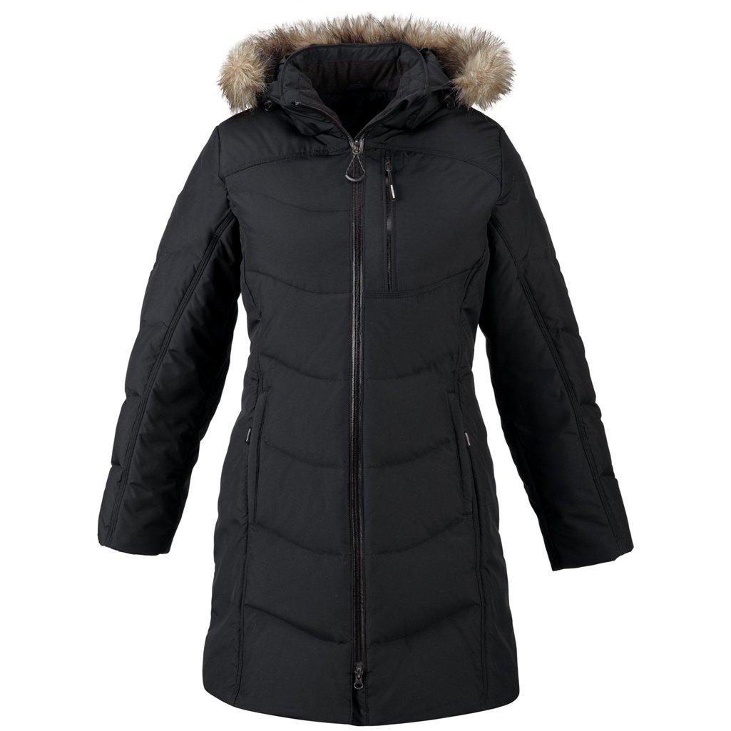 Ash City Ladies Down Jacket (X-Small, Black)