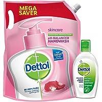 Dettol Liquid Handwash Refill, Skincare + Instant Hand Sanitizer, Original - 1500 ml + 50 ml