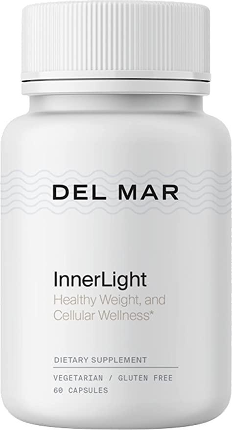 Del Mar Labs: InnerLight - Weight Control Supplement with Chromium Picolinate, Berberine and Gymnema - 60 Capsules - Natural Ingredients to Support Metabolism and Weight Loss - Made in The USA