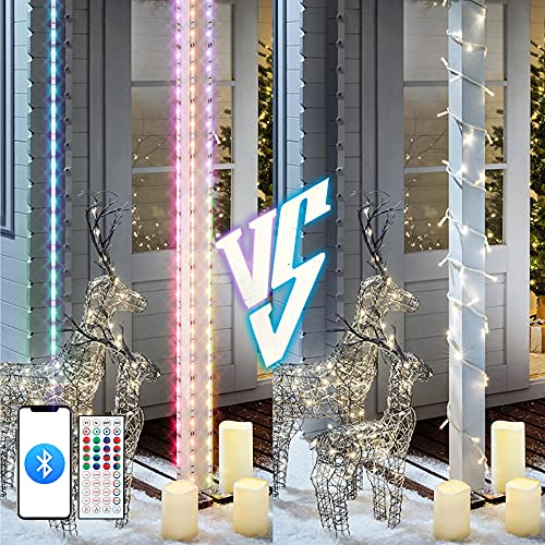 Smart LED Lights Strip for Bedroom - JelBo 5050 RGB 12V Music Led Light Strips Kit with 44 Keys Bluetooth Controller for Room Decor, TV, Cabinet, Wall, and Outdoor(2x32.8ft)