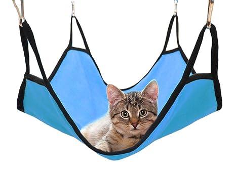 Hamaca de gato de forro polar suave para mascotas, juguete para gatito, cama para