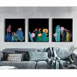 5D Diamond Painting Full Drill Triptych Cactus
