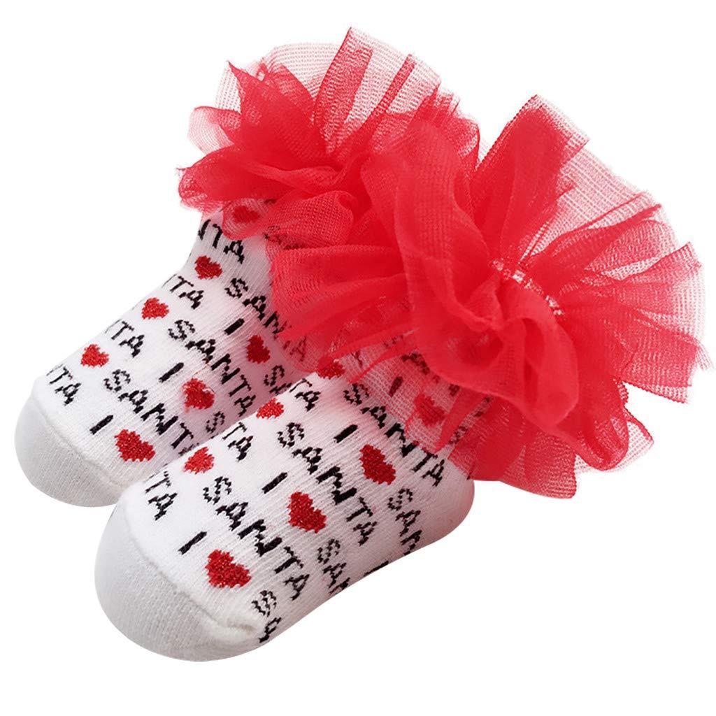 Cinnamou Precioso Bebé Niñas Calcetines en Cartas de Malla ...