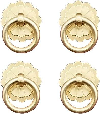 Tiazza 2 St/ück Antik Messing Ring Ziehgriff K/üche Schr/änke Schubladen Vintage M/öbel Hardware Retro Stil Pull Ring