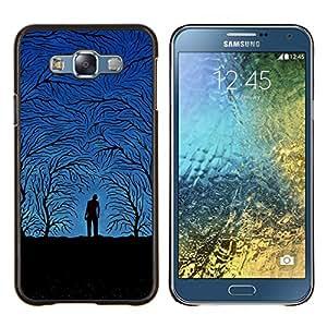 """Be-Star Único Patrón Plástico Duro Fundas Cover Cubre Hard Case Cover Para Samsung Galaxy E7 / SM-E700 ( Blue Night Forrest"""" )"""