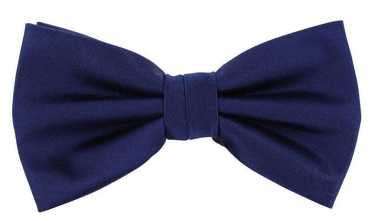 Michelsons of London Mens Plain Silk Bow Tie Royal Blue