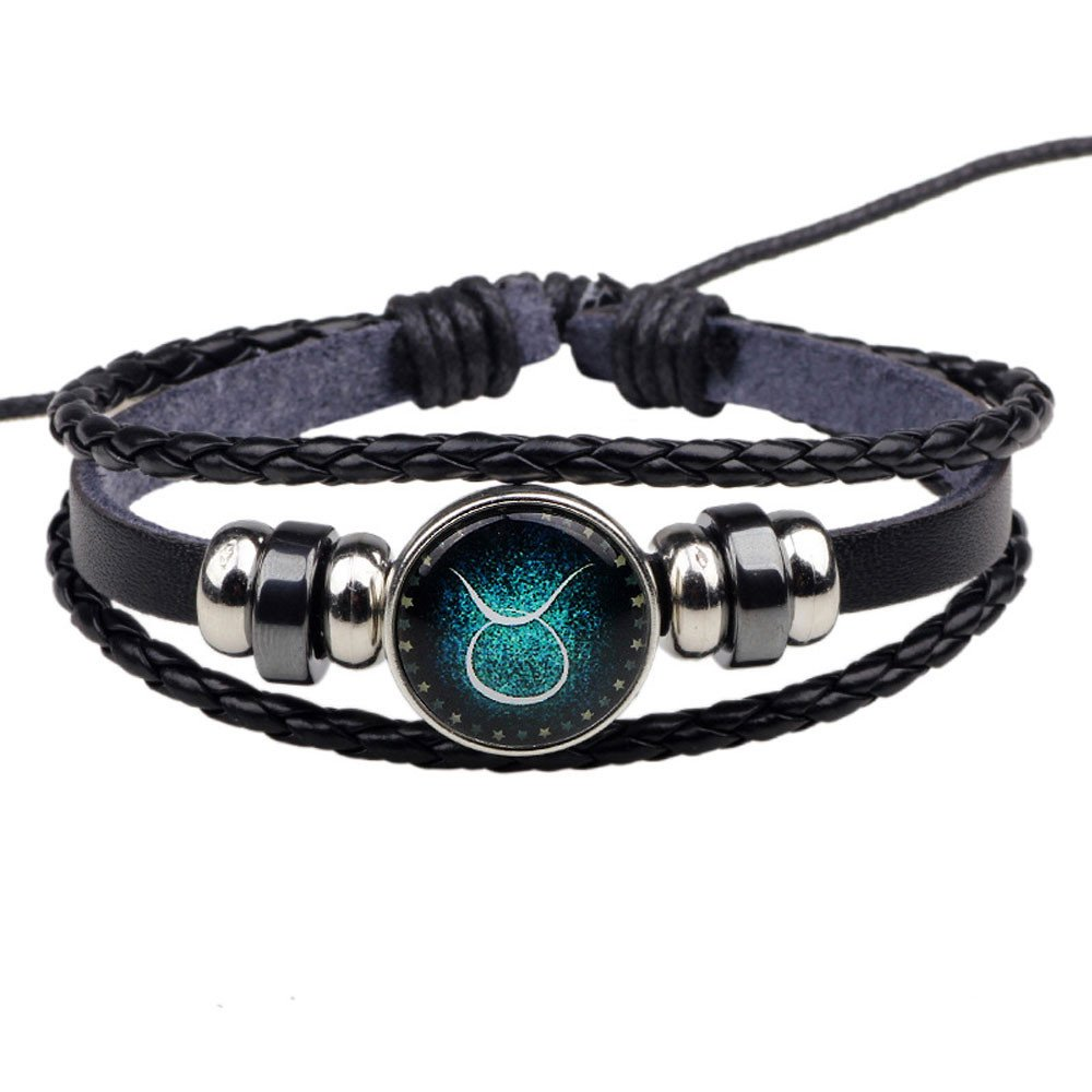 DaoAG-Accessories Braided Charm Bracelet for Women Leather Beaded Bracelets Jewelry Punk Chain Bracelet Simple Bangle Bracelets for Women & Girls (C)
