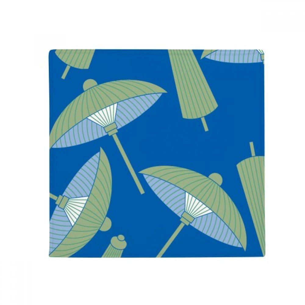 DIYthinker Green Paper Umbrella Cloud Pattern Anti-Slip Floor Pet Mat Square Home Kitchen Door 80Cm Gift