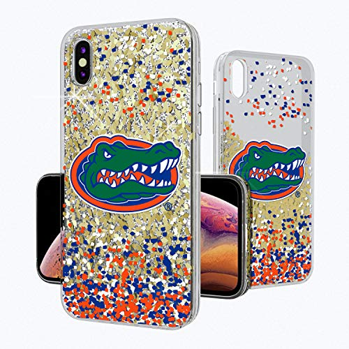 Keyscaper KGLGXM-0FLA-FETTI1 Florida Gators iPhone Xs Max Glitter Case with UF Confetti Design (Florida Gators Glitter)