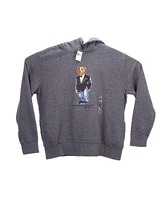 12f64490e Amazon.com  Polo Ralph Lauren Tuxedo Bear Hoodie Sweatshirt Fleece M Grey   Clothing