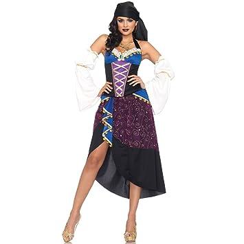 Costume Halloween Esmeralda.Sexy Gypsy Fortune Teller Pirate Esmeralda Disney Fancy Dress Costume 8 12