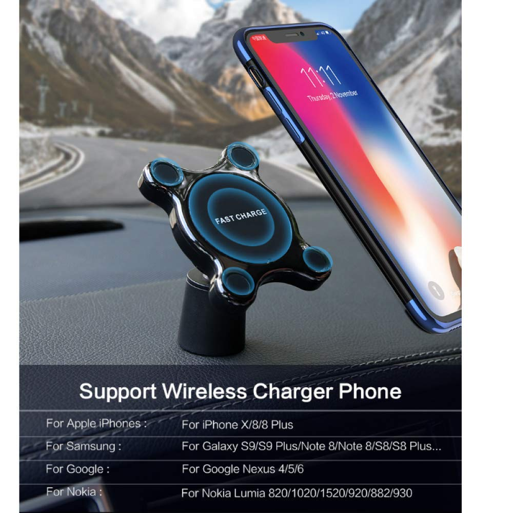 Autorizzazione;Caricatore auto wireless Magnetic Phone Mount Ultra-Fast Qi Charging Pad Air Vent Mount Charging Cradle per IPhone Samsung
