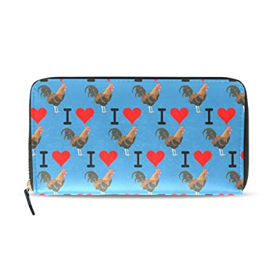 Amazon.com: I Love Cock Zip Around Wallet Credit Card Holder ...