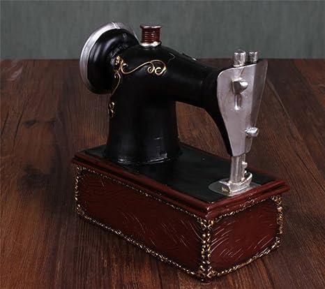 GONGYIPW Máquina de Coser Antigua de Estilo Retro Hucha de Resina Artesanías Adornos creativos Accesorios de Tiro de Estudio: Amazon.es: Hogar