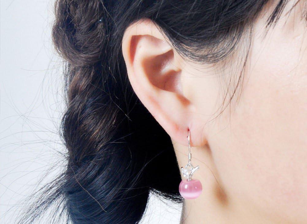 Cosanter 1 Paire Mod/èle de Pomme Boucles Doreilles Femme Mignon Earrings Cristal pour Cadeau Anniversaire
