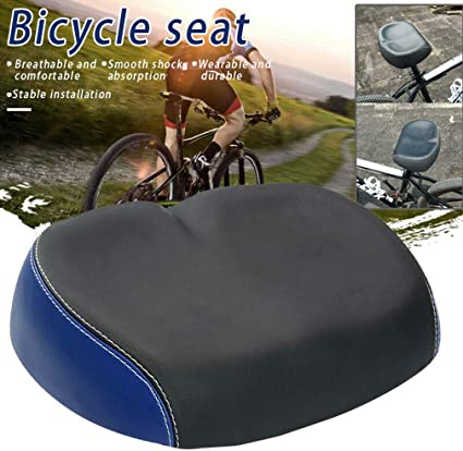 Comfortable Extra-Wide Big Bum Bike Bicycle Soft Pad Saddle Seat Cushion Sporty