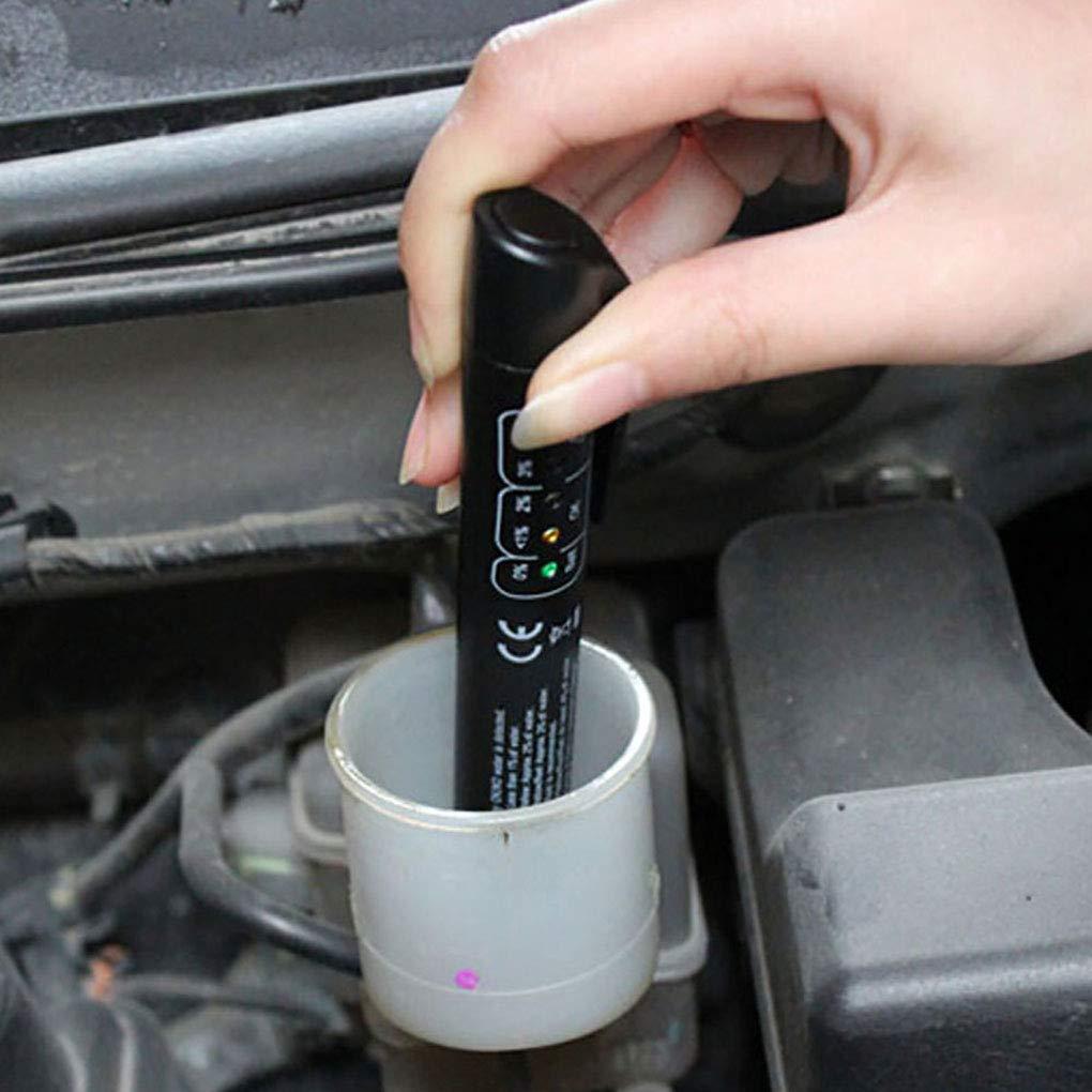 Uokoki Herramienta de comprobador de líquido de frenos de automóviles líquido de frenos Detección de aceite pluma de la prueba del detector DOT 3 DOT ...