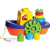 Brinquedo Educativo Barco Didático com Blocos e Ancho Merco Toys