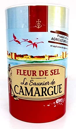 Amazon Com Le Saunier De Camargue Fleur De Sel Sea Salt Round