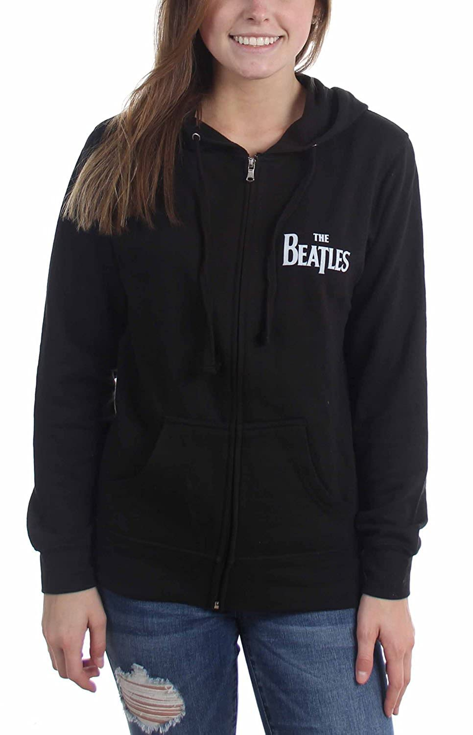 The Beatles - Womens Green Applezip Hoodie P20612006