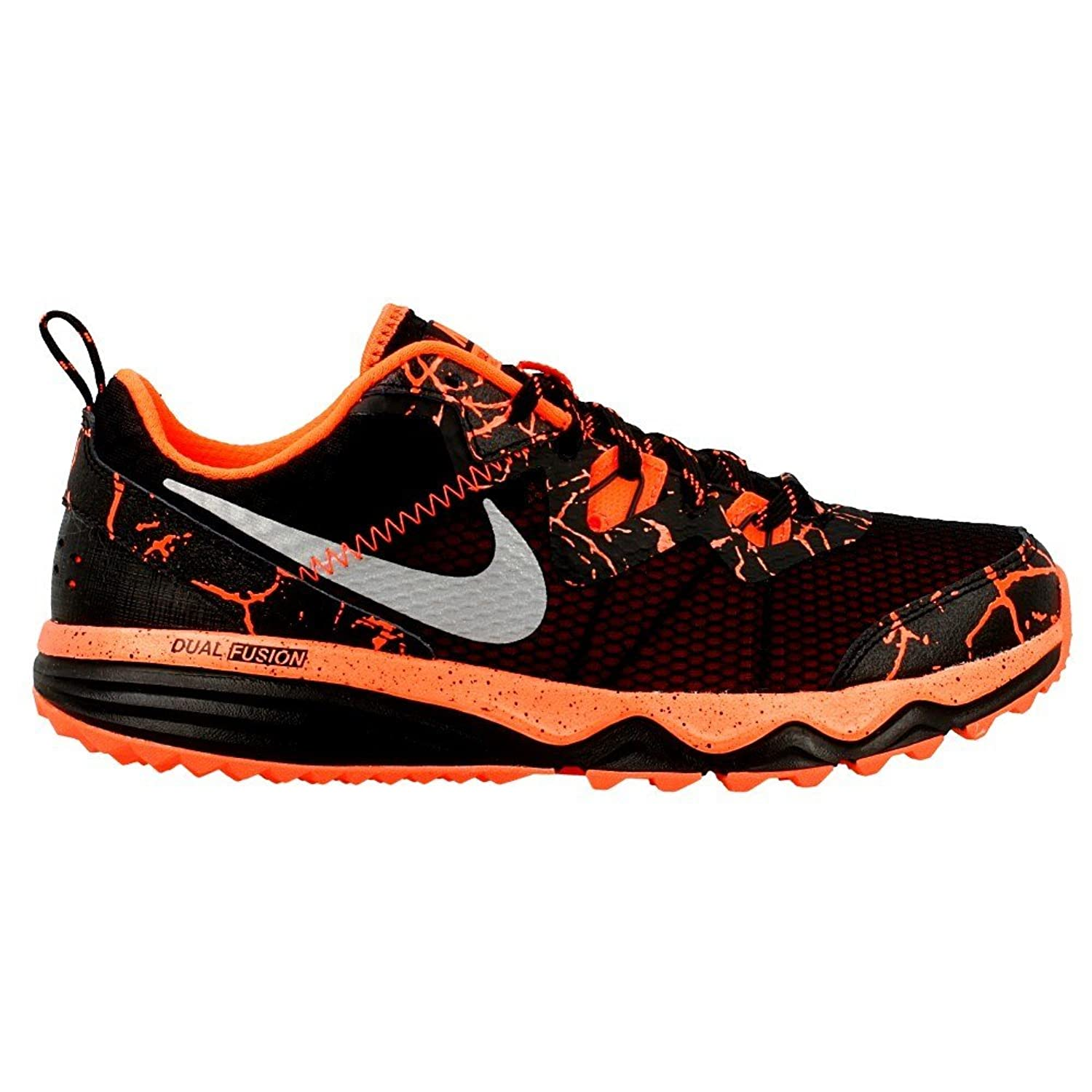 Amazon | Nike Dual Fusion Trail Lava Little Kid/Big Kid Black/Total  Crimson/Metallic Silver 5 5 Big Kid M | Running