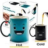 InGwest Home. Morning Coffee Mug. 11 ounce. Changing Color Mug for you and your friend. Ceramic Heat Sensitive Color Changing Coffee Mug. Novelty Heat Sensitive Mug With Funny Smile