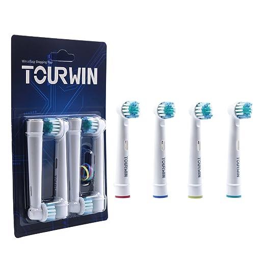 7 opinioni per Tourwin SB417A, testine rotanti doppie, ricambio per spazzolino elettrico,