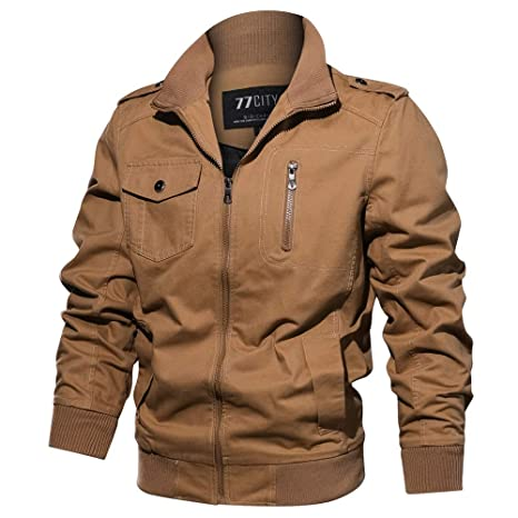 Amazon.com: Teresamoon Mens Autumn Winter Military Clothing Zipper Pocket Tactical Breathable Coat