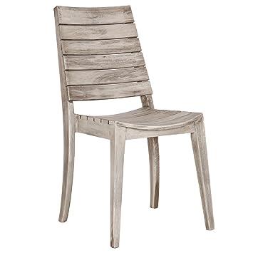 M24 Chaise Chaise en bois d\'acacia ACAPULCO, en bois massif, à ...