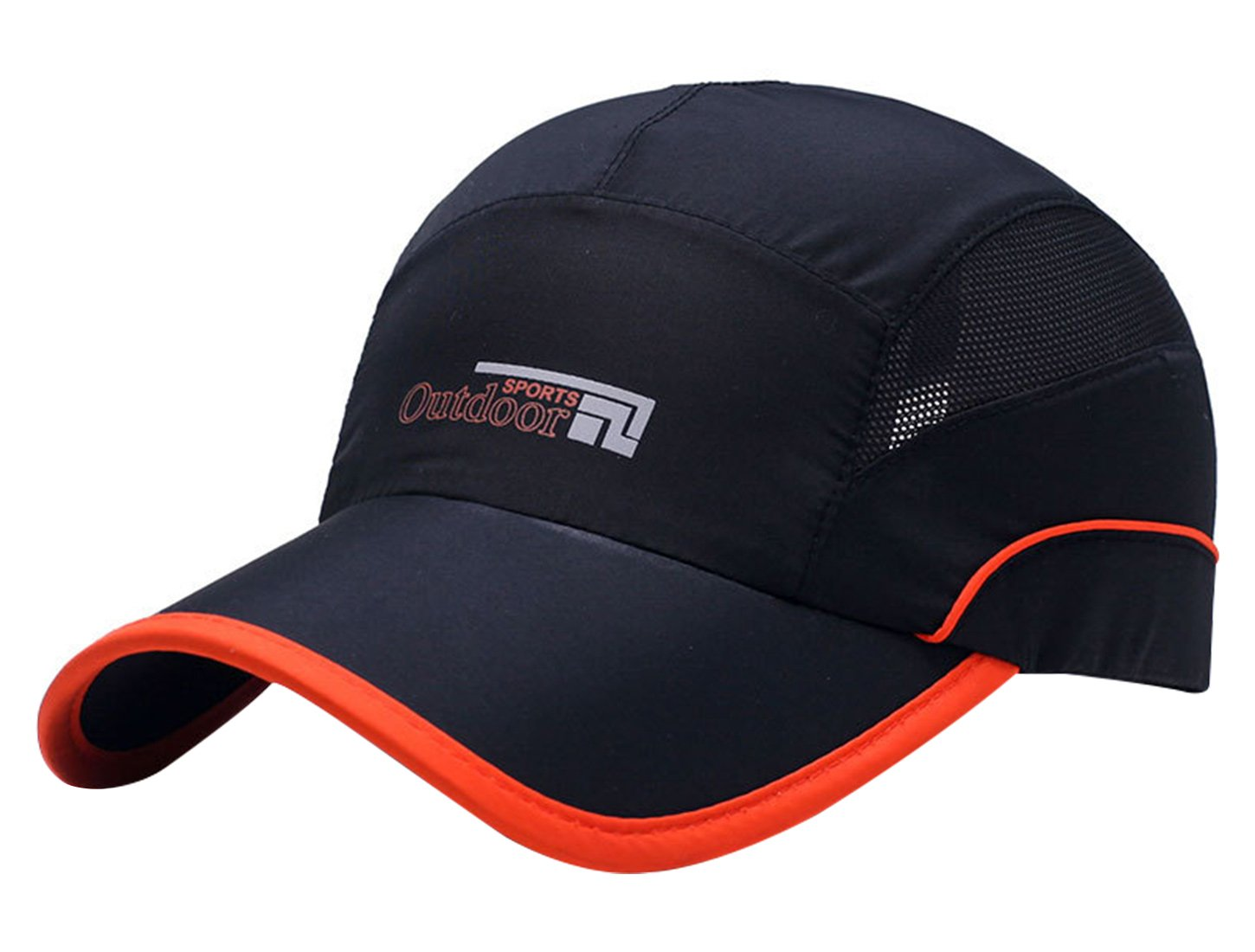 Summer Baseball Cap,Men Sport Hat Adult Sporting Goods Hat for Dad 56-60cm Adjustable Runing Cap Unisex Novelty Baseball Hat with Apparel Fabric and Polyester Black
