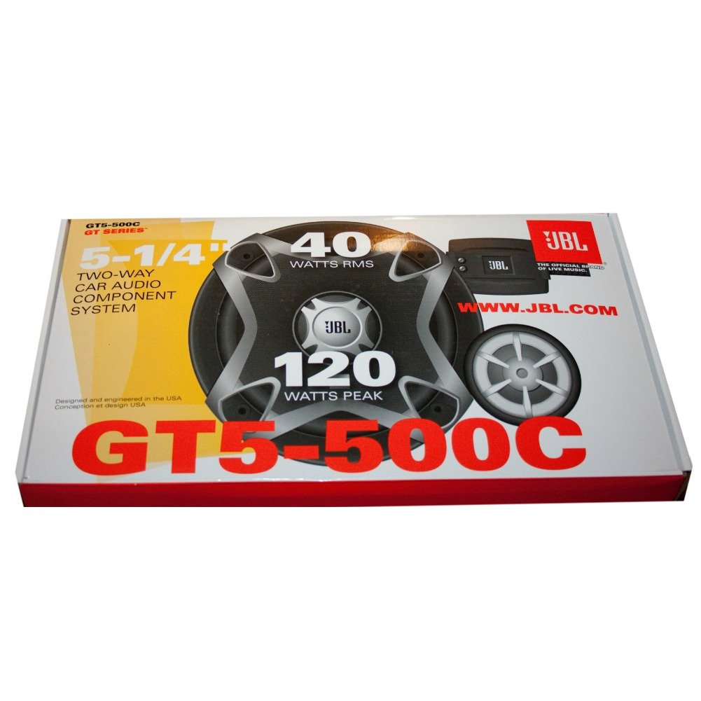 JBL GT5-500C GT5 500C System 2 Calles Kit 5 5,25 Altavoz difusores 40 vatios rms 120 vatios m/áx Kit 13,00 cm 130 mm woofer Tweeter Crossover para predisposici/ón Coche Espectacular !!!