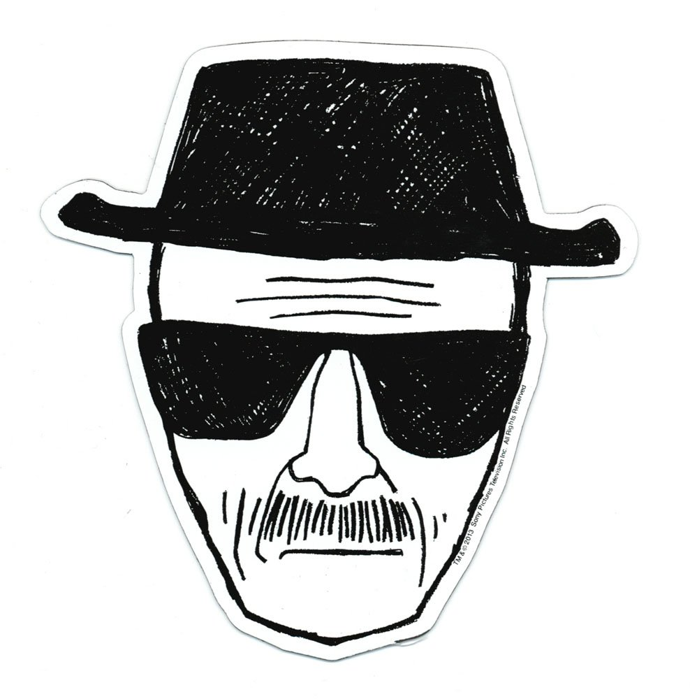 Breaking Bad Heisenberg Face Car Magnet Toy Zany