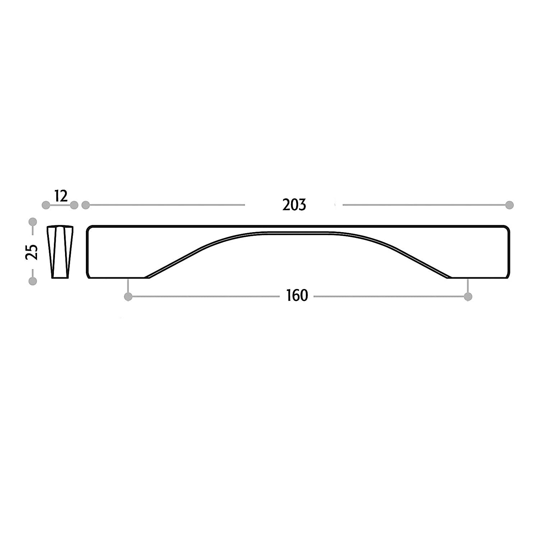 M/öbelgriff FRANCO BA 160 mm Chrom poliert Aluminium Schrankgriff K/üchengriff T/ürgriff SW44 von SCH/ÜCO ALU COMPETENCE