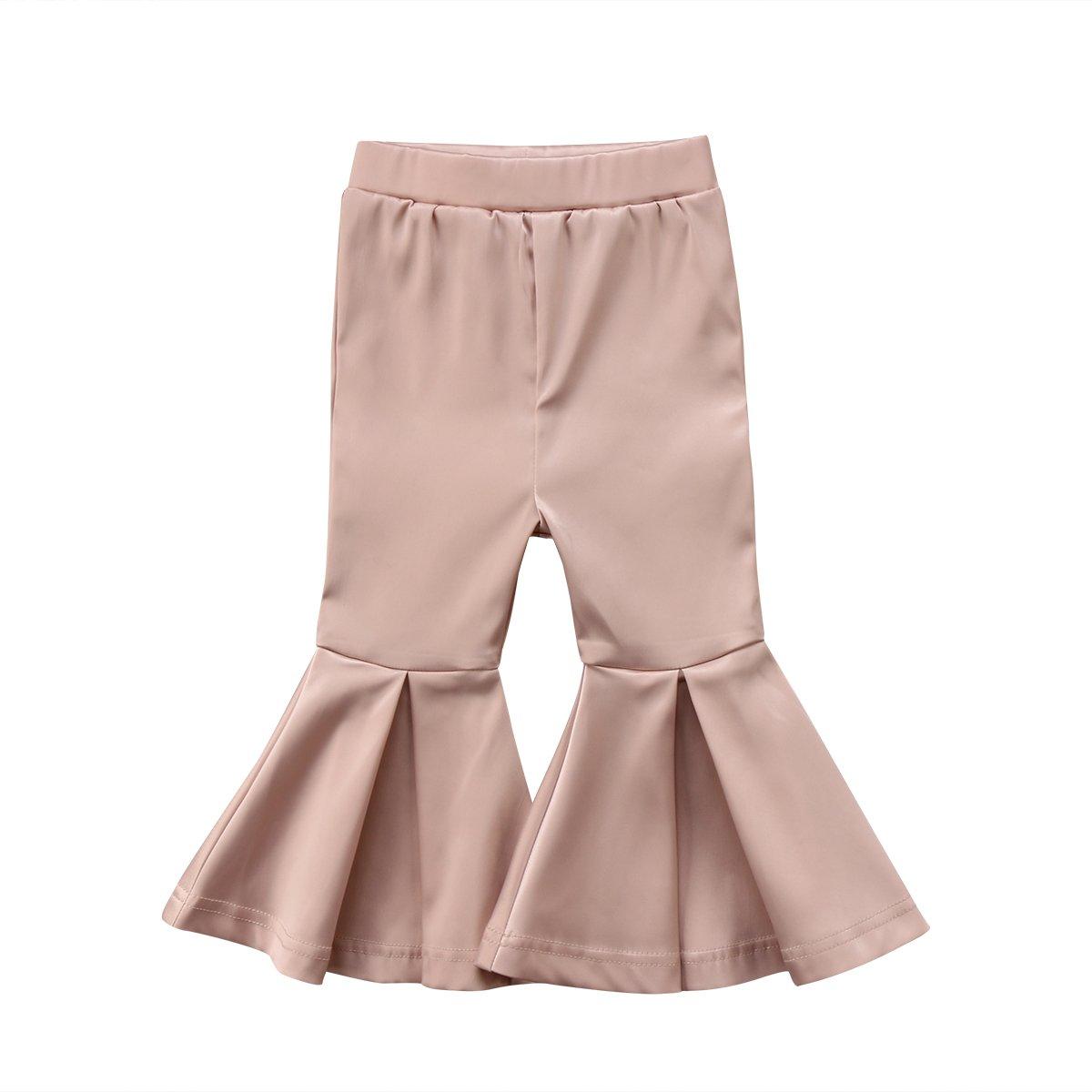 30ad5fa04bc80 Galleon - Newborn Baby Girls Kids Boho Floral Bell Bottom Flare Leggings  Trousers Pants (Glod, 2-3 T)