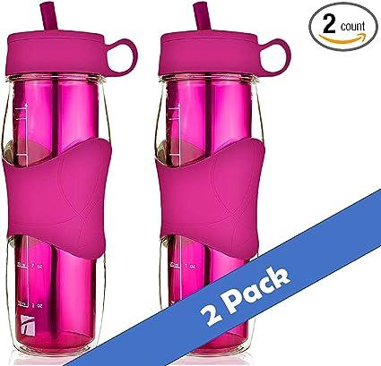 Outdoor Sport Water Bottle Tea Infuser Portable Plastic Drinking Tumbler Camping