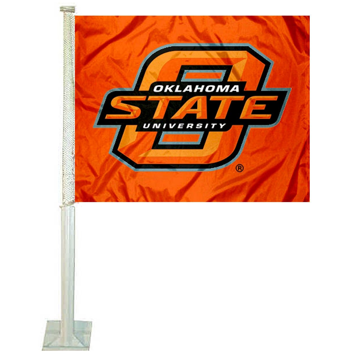 College Flags and Banners Co. Oklahoma State Cowboys Orange Car Flag